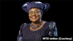 លោកស្រី Ngozi Okonjo-Iweala ត្រូវបានជ្រើសរើសជាអគ្គនាយិកាអង្គការពាណិជ្ជកម្មពិភពលោក កាលពីថ្ងៃចន្ទ ទី១៥ ខែកុម្ភៈ ឆ្នាំ២០២១។