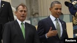 El presidente Barack Obama y John Boehner deberán ponerse de acuerdo de cara a una solución para evitar abismo fiscal.