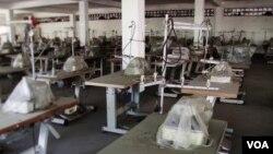 Một nhà máy dệt may tại Miến Điện.