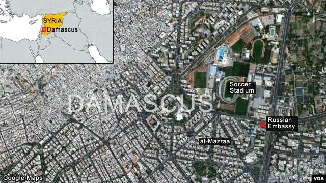 Click to Expand: al-Mazraa neighborhood of Damascus, Syria
