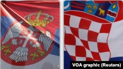Zastave Srbije i Hrvatske, ilustrativna fotografija