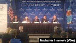 Vashingtondagi Jons Xopkins universitetida muhokama, 28-aprel, 2015