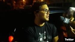 """El periodista y activista de derechos humanos venezolano Luis Carlos Díaz recibió libertad condicional el martes 12 de marzo de 2019 mientras sigue en curso el juicio por supuesto delito de """"instigación a delinquir""""."""
