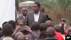 Zambia's outspoken opposition leader Hakainde Hichilema has been arrested, April 10, 2017, for the second time in about six months.