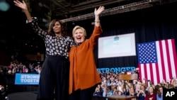 Мішель Обама агітує за Клінтон. Чинний президент США також підтримує кандидатуру колишнього Державного секретаря США.