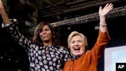 Matar Shugaban kasar Amurka Michelle Obama da Hillary Clinton