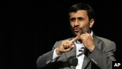 Iran's President Mahmoud Ahmadinejad (file photo