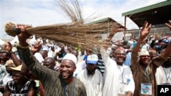 A typical political rally in Nigeria