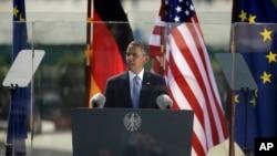 Президент США Барак Обама. Берлин. Германия. 19 июня 2013 г.