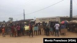 Activistas organizam manifestação no Uíge contra governação MPLA. 20 de Março, 2021