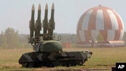Un sistema de defensa aéreo ruso.
