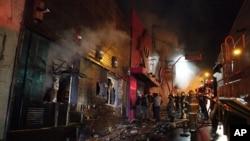 消防員當時救火的情況