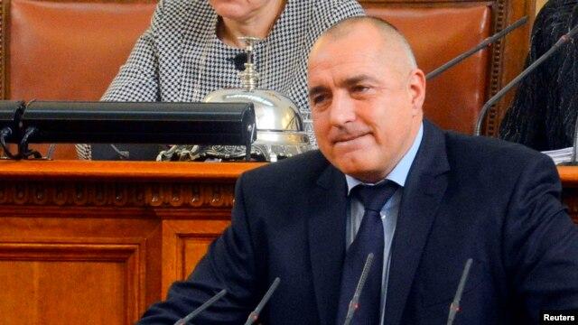 Bulgarian Prime Minister Boiko Borisov speaks in the Parliament in Sofia, February 20, 2013.