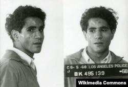 Sirhan Sirhan'ın tutuklandıktan sonra polis tarafından çekilen fotoğrafı (1968)