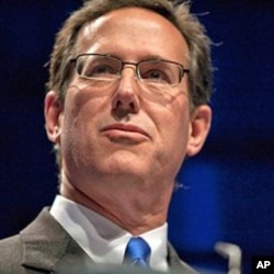 Former U.S. Republican Senator Rick Santorum speaking at the 38th annual Conservative Political Action Conference (CPAC) meeting in Washington, D.C., February 10, 2011