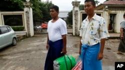 被赦免的政治犯星期二﹐已經從緬甸各個監獄被釋放。