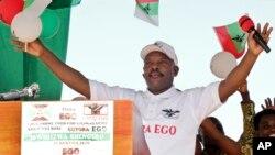 Presiden Burundi Pierre Nkurunziza dalam sebuah acara kampanye di Bugendana, Gitega (foto: dok).