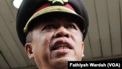 Kepala Divisi Hubungan Masyarakat Mabes Polri Irjen Anton Charliyan. (VOA/AFathiyah Wardah)
