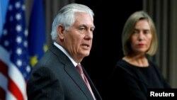 تیلرسون و موگرینی مسئول سیاست خارجی اتحادیه اروپا