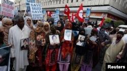 لاپتہ افراد کے اہل خانہ اُن کی بازیابی کیلئے احتجاج کر رہے ہیں۔ فائل فوٹو