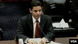El ex prisionero político Normando Hernández también testificó ante el Congreso.