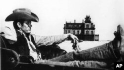 "Actor James Dean in the 1956 film ""Giant"""