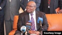 Le facilitateur dans la crise burundaise, l'ancien président tanzanien Benjamin Mkapa, 21 mai 2016
