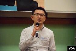香港民主黨現任南區區議員柴文瀚。(美國之音湯惠芸攝)
