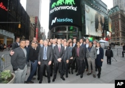 FILE - Hortonworks, Inc.Hortonworks, Inc., a California software company, opened for trading on The Nasdaq Stock Market, Dec. 12, 2014.