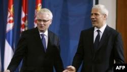 Presidents of Croatia and Serbia, Ivo Josipović and Boris Tadić.
