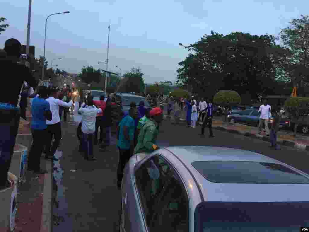 Passeata em celebração à vitória de Muhammadu Buhari, Nigéria, Março 31, 2015