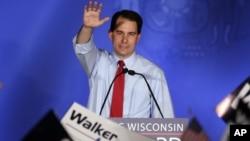 美國共和黨籍的威斯康辛州州長沃克