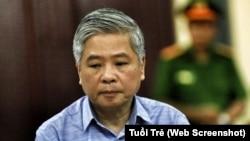 Ông Đặng Thanh Bình nghe tuyên án chiều 2-7. (Ảnh chụp màn hình từ Tuổi Trẻ)