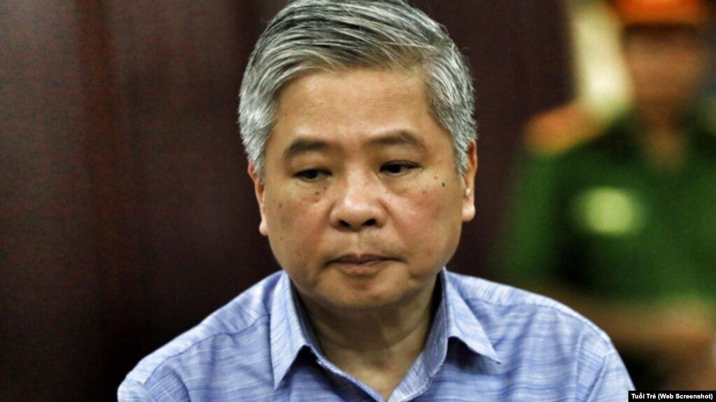 Ông Đặng Thanh Bình nghe tuyên án chiều 2/7/2018. (Ảnh chụp màn hình từ Tuổi Trẻ)