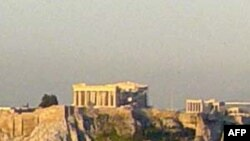 Cảnh sát Hy Lạp giải tán biểu tình tại Khu du lịch Acropolis