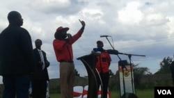 Abanye abasemkhosini owe Workers' Day eHarare.