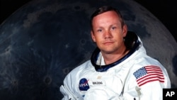 Undated file photo provided by NASA shows Neil Armstrong