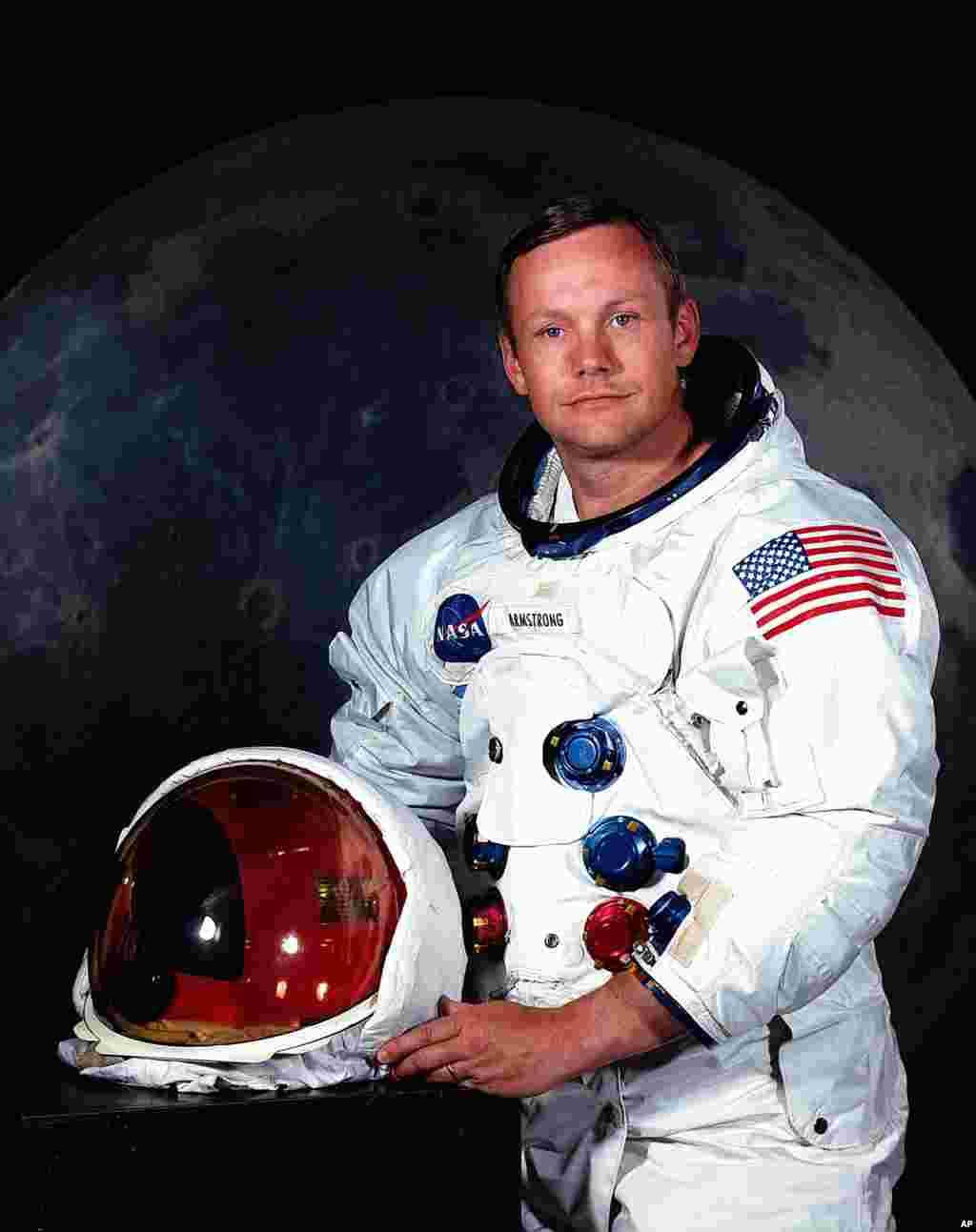 Undated file photo provided by NASA shows Neil Armstrong.