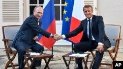 Rusya Lideri Vladimir Putin ve Fransa Cumhurbaşkanı Emmanuel Macron
