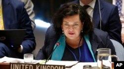 """Посол Британії в ООН Карен Піерс на засіданні Ради безпеки 6 вересня навела нові докази російської відповідальності за отруєння у Солсбері, які представник Москви назвав """"взятими з повітря""""."""