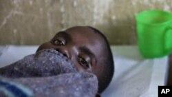 Un patient soigné au centre hospitalier Don Bosco à Goma.