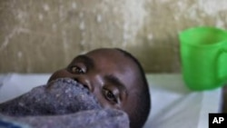 A cholera patient in bed at the Don Bosco center in Goma, Congo, July 2011 (file photo).