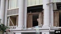 Hiện trường sau vụ tấn công ngày 17 tháng 7 năm 2009 tại khách sạn Ritz-Carlton ở Jakarta
