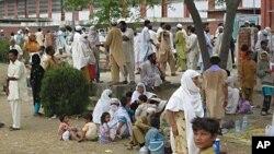 متاثرین سیلاب کے لیے قائم ایک امدادی کیمپ