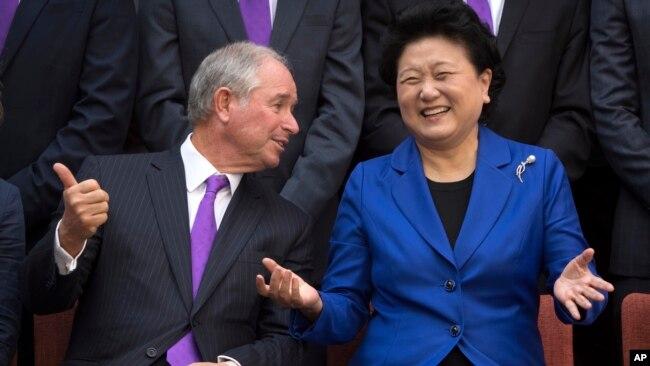 黑石集团主席:中国经济增长放缓 贸易战或降温