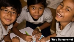 Children with promise to learn and prosper are chosen for the private Liger Learning Centers in Cambodia. (Photo by LigerLearning.org)