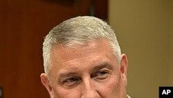 美国陆军高级军官钱德勒11月7日在首尔举行的相关记者会上