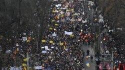 تظاهرات هزاران نفر در رومانی در اعتراض به برنامه رياضت اقتصادی