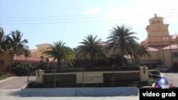 習近平訪問美國期間下榻的位於棕櫚灘的一家酒店。(美國之音視頻截圖)