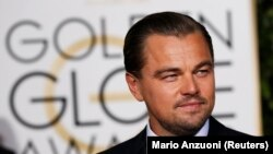 Diễn viên Leonardo DiCaprio tại lễ trao giải thưởng Quả Cầu Vàng lần thứ 73 tại Beverly Hills, ngày 10/1/2016.